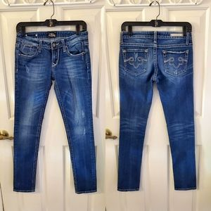 Express Skinny Medium Wash Mid-Rise Jeans 2R